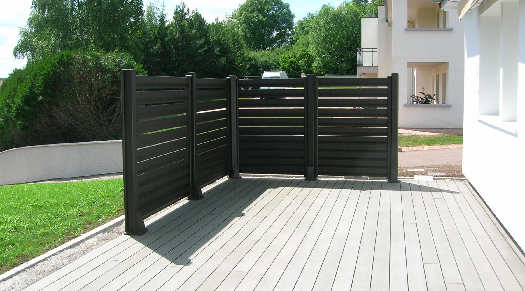 Barriere de balcon en alu for Cloture exterieur